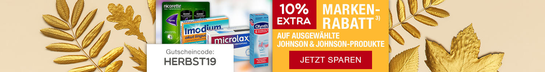 Unsere Marken der Woche - 10% Rabatt auf Johnson&Johnson Produkte.