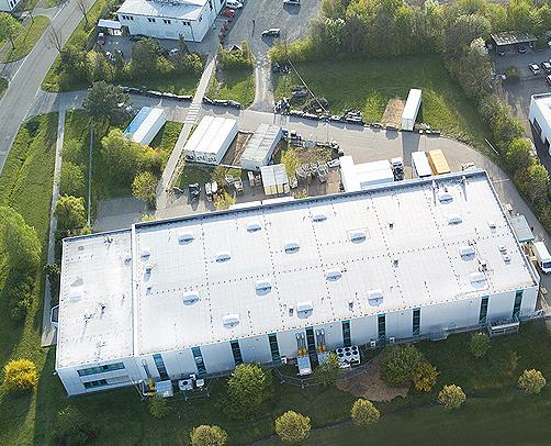 Luftaufnahme des Versandzentrums von juvalis.de