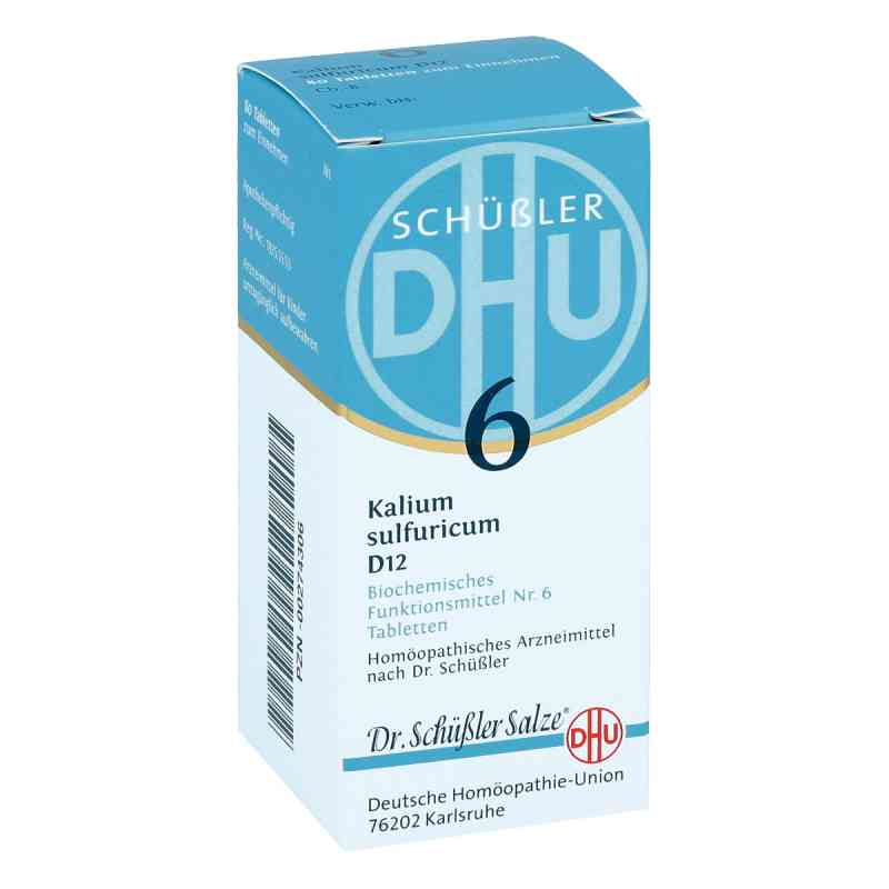 Biochemie Dhu 6 Kalium Sulfur D  12 Tabletten  bei juvalis.de bestellen