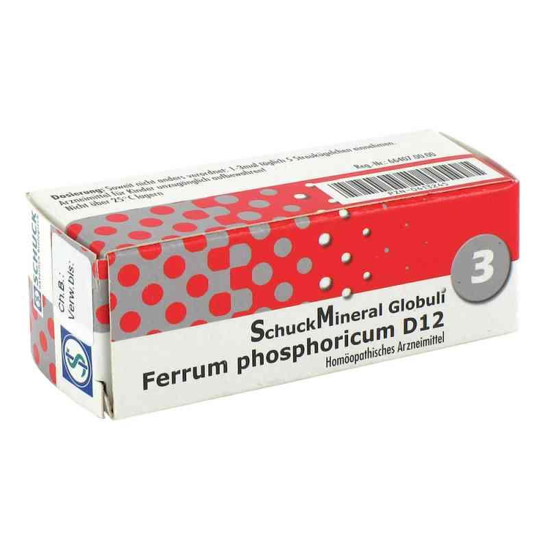 Schuckmineral Globuli 3 Ferrum phosphoricum D12  bei juvalis.de bestellen