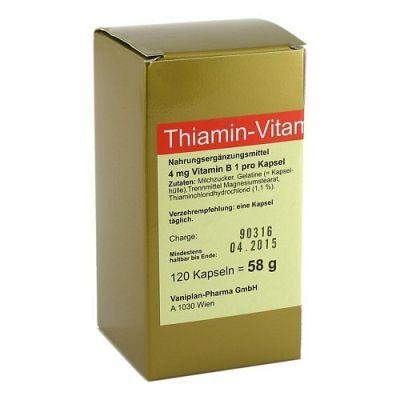 Thiamin Kapseln Vitamin B1  bei juvalis.de bestellen