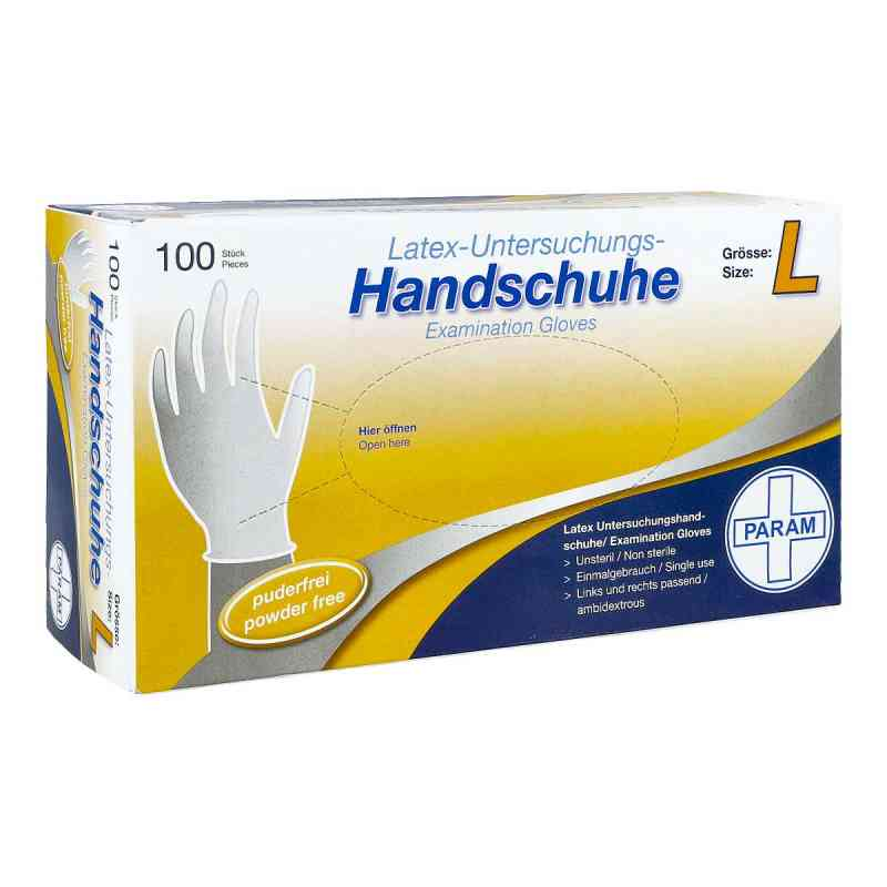 Handschuhe Einmal Latex puderfrei L  bei juvalis.de bestellen