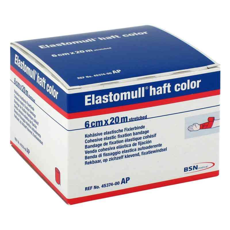 Elastomull haft color 20mx6cm rot Fixierbinde   bei juvalis.de bestellen