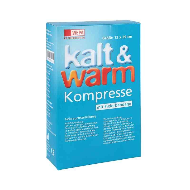Kalt-warm Kompresse 12x29cm mit Fixierband  bei juvalis.de bestellen