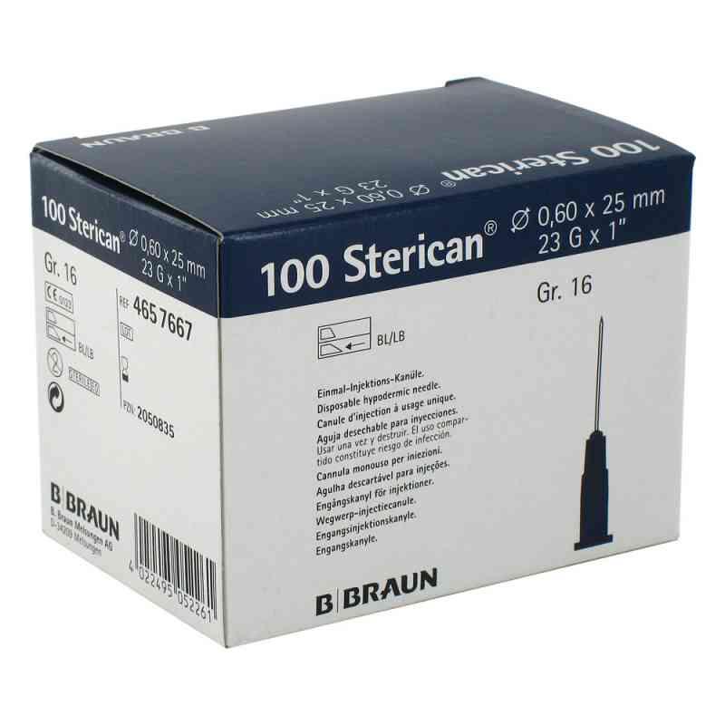 Sterican Kanüle luer-lok 0,60x25mm Größe 1 6 blau  bei juvalis.de bestellen
