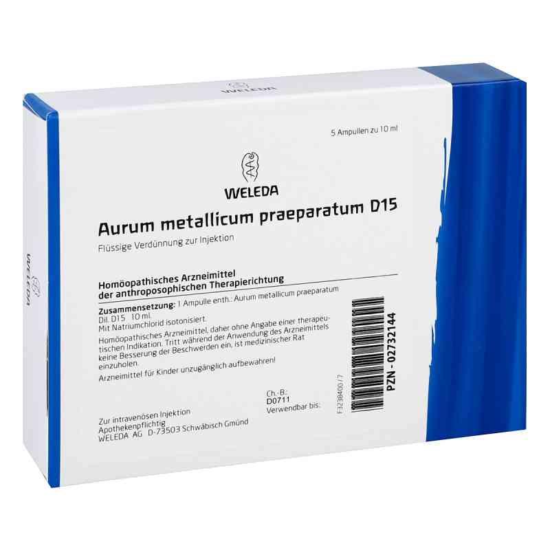 Aurum Metallicum Praep. D15 Ampullen  bei juvalis.de bestellen