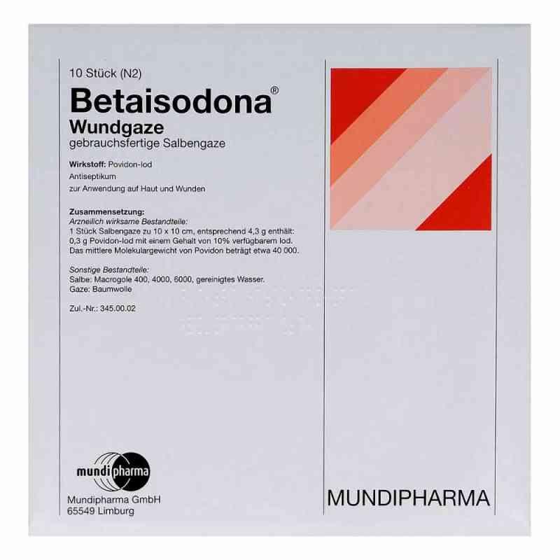 Betaisodona Wundgaze 10x10 cm  bei juvalis.de bestellen