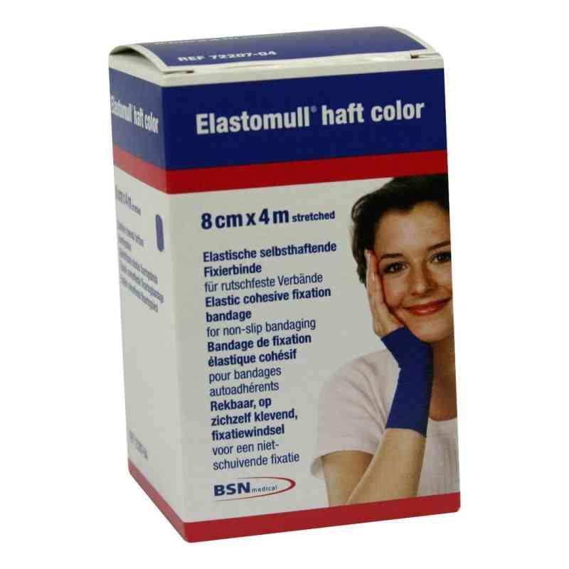 Elastomull haft 4mx8cm 72207-04 blau Fixierbinde   bei juvalis.de bestellen