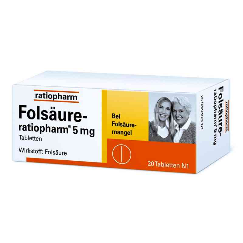 Folsäure Ratiopharm 5 mg Tabletten  bei juvalis.de bestellen