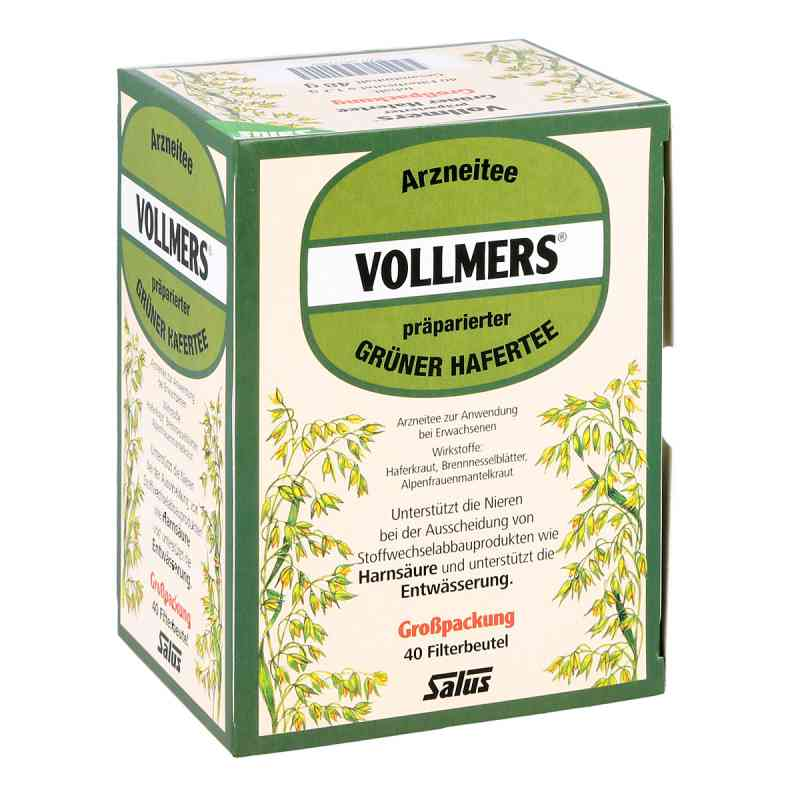 Vollmers präparierter grüner Hafertee Filterbeutel  bei juvalis.de bestellen