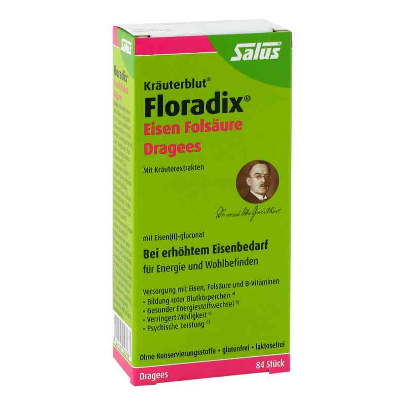 Floradix Eisen Folsäure Dragees  bei juvalis.de bestellen