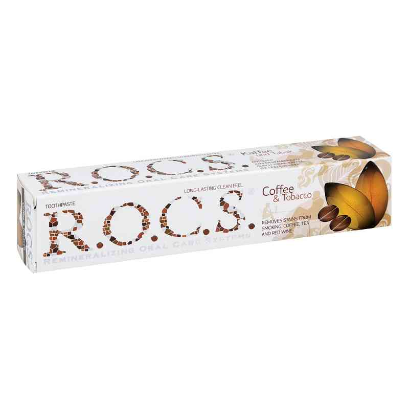 Rocs Erwachsene Kaffee + Tabak Zahnpasta  bei juvalis.de bestellen