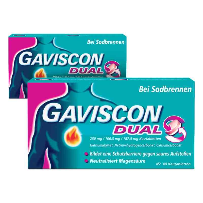 GAVISCON Dual 250 mg, 106,5 mg, 187,5 mg Kautabletten  bei juvalis.de bestellen