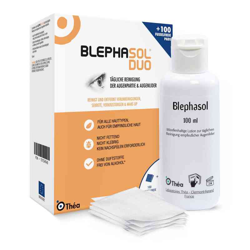 Blephasol Duo 100 ml Lotion+100 Reinigungspads  bei juvalis.de bestellen