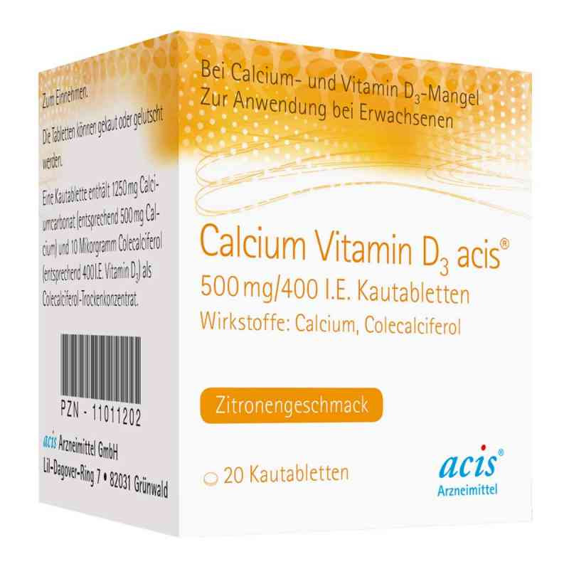 Calcium Vitamin D3 acis 500mg/400 internationale Einheiten  bei juvalis.de bestellen