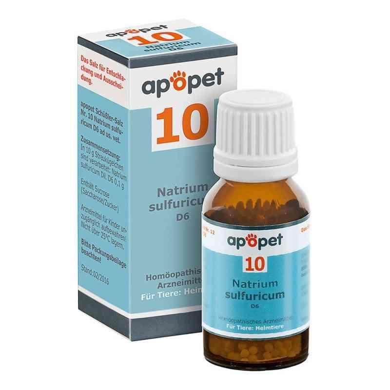 Apopet Schüssler-salz Nummer 10  Natrium sulf.D 6 veterinär   bei juvalis.de bestellen