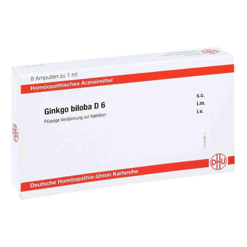 Ginkgo Biloba D 6 Ampullen  bei juvalis.de bestellen