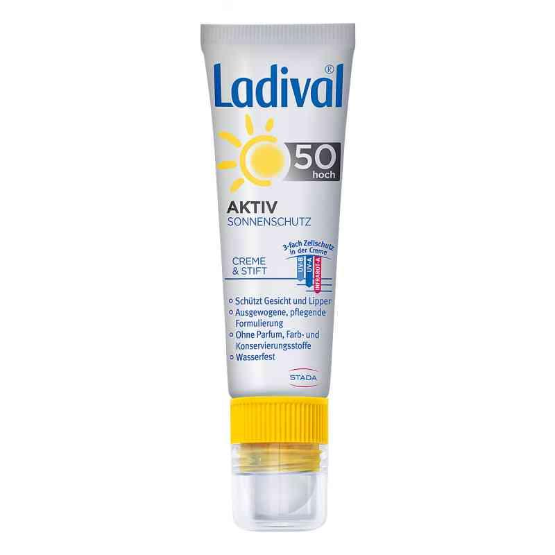 Ladival Aktiv Sonnenschutz für Gesicht und Lipp.LSF 50  bei juvalis.de bestellen