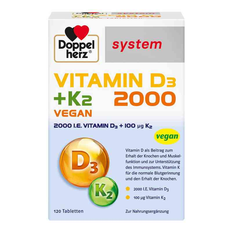 Doppelherz Vitamin D3 2000+k2 system Tabletten  bei juvalis.de bestellen