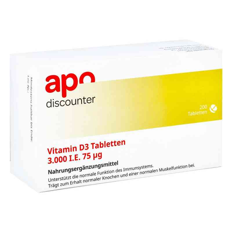 Vitamin D3 Tabletten 3000 I.e. 75 [my]g von apo-discounter  bei juvalis.de bestellen