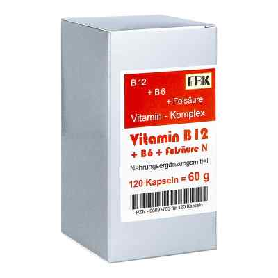 Vitamin B12 + B6 + Folsäure Komplex N Kapseln  bei juvalis.de bestellen