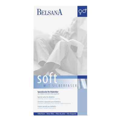 Belsana Soft Diab.socke 3 schwarz mit Silberfaser  bei juvalis.de bestellen