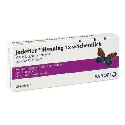 Jodetten Henning 1x wöchentlich 1530 Mikrogramm  bei juvalis.de bestellen