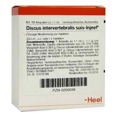 Discus Intervertebralis suis Injeel Ampullen  bei juvalis.de bestellen
