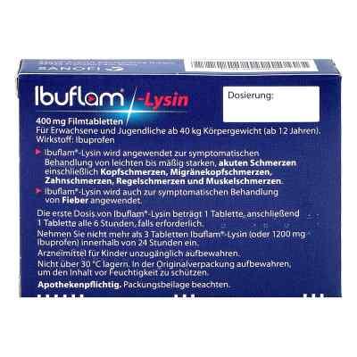 Ibuflam Lysin 400 mg Ibuprofen Schmerztabletten  bei juvalis.de bestellen