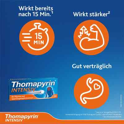 Thomapyrin INTENSIV bei Migräne & Kopfschmerzen  bei juvalis.de bestellen