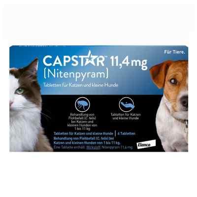 Capstar 11,4 mg für Katzen und kleine Hunde Tabletten  bei juvalis.de bestellen