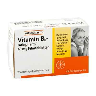 Vitamin B6 ratiopharm 40 mg Filmtabletten  bei juvalis.de bestellen