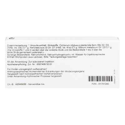Cichorium Pancreas Comp. Ampullen  bei juvalis.de bestellen