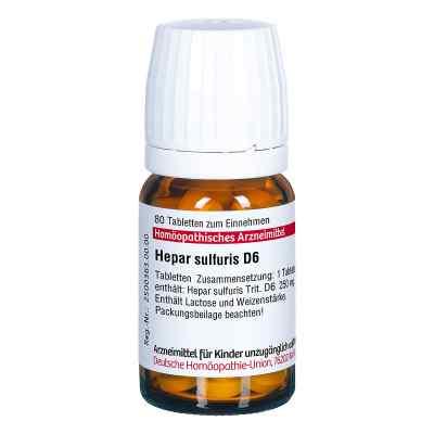 Hepar Sulfuris D6 Tabletten  bei juvalis.de bestellen