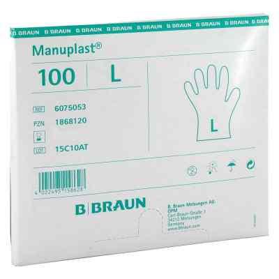 Manuplast Einmal Handschuhe gross, hell  bei juvalis.de bestellen