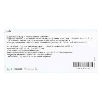 Renes/ Argentum Nitricum Ampullen  bei juvalis.de bestellen