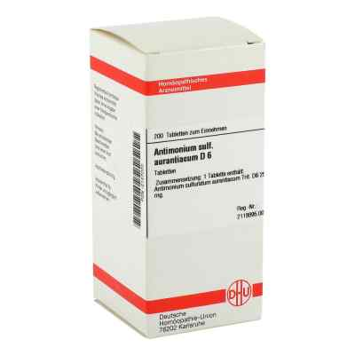 Antimonium Sulf. Aurant. D6 Tabletten  bei juvalis.de bestellen