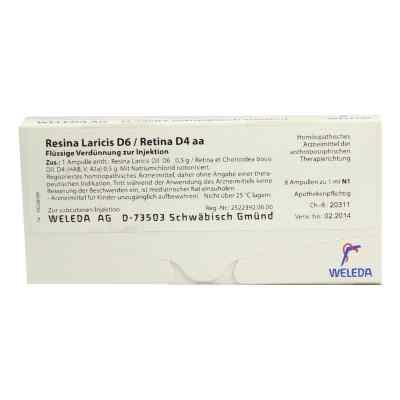 Resina Laricis/ D6 Retina D4 aa Ampullen  bei juvalis.de bestellen