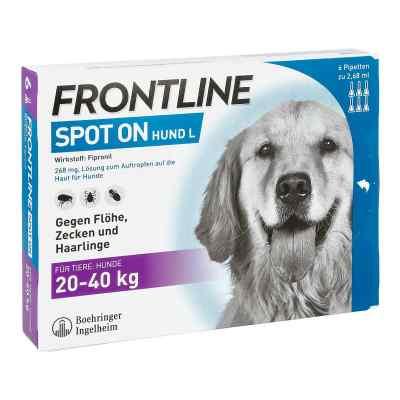 Frontline Spot on Hund 40 veterinär Lösung gegen Flöhe und Zecke  bei juvalis.de bestellen