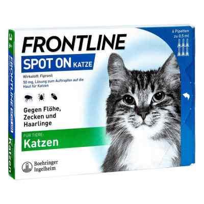 Frontline Spot on Katze veterinär Lösung gegen Flöhe und Zecken  bei juvalis.de bestellen