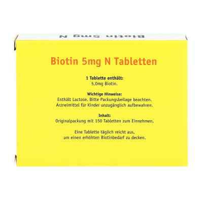 Biotin 5 mg N Tabletten  bei juvalis.de bestellen