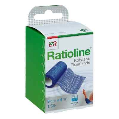 Ratioline acute Fixierbinde kohäsiv 8 cmx4 m blau  bei juvalis.de bestellen