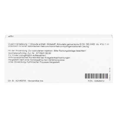 Articulatio Genus Gl D6 Ampullen  bei juvalis.de bestellen