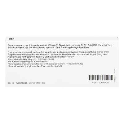 Thymus Glandula Gl D4 Ampullen  bei juvalis.de bestellen