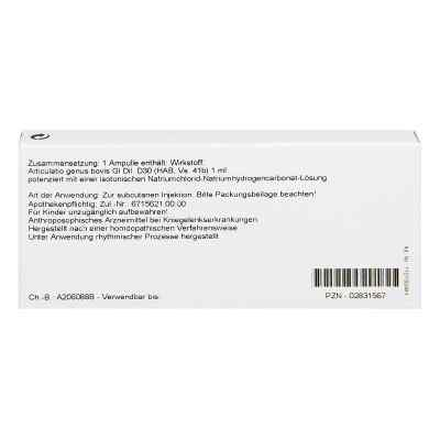 Articulatio Genus Gl D30 Ampullen  bei juvalis.de bestellen