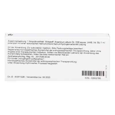 Arsenicum Album D30 Ampullen  bei juvalis.de bestellen