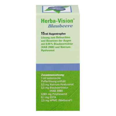Herba-vision Blaubeere Augentropfen  bei juvalis.de bestellen