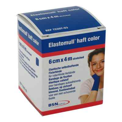 Elastomull haft 4mx6cm 72207-03 blau Fixierbinde   bei juvalis.de bestellen