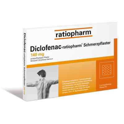 Diclofenac-ratiopharm Schmerzpflaster 140mg  bei juvalis.de bestellen