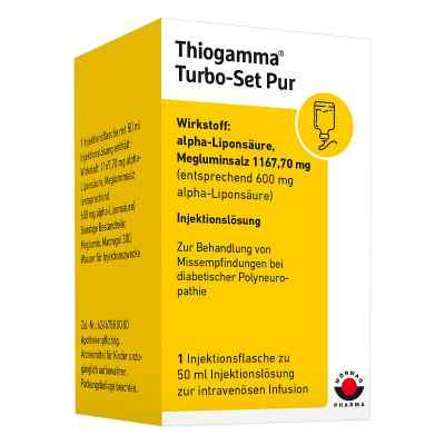 Thiogamma Turbo Set Pur Injektionsflaschen  bei juvalis.de bestellen